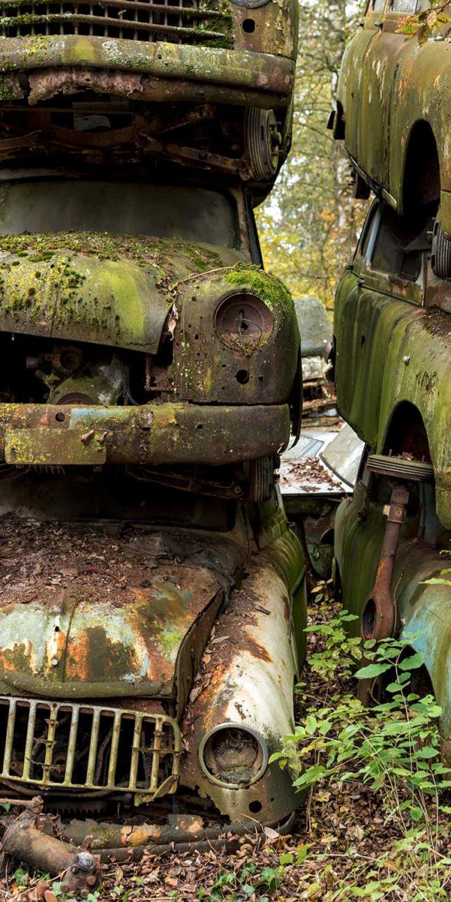 urbex exploration autriche car graveyard