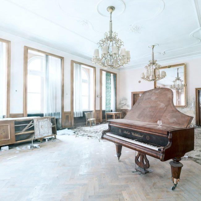 urbex exploration autriche salle piano