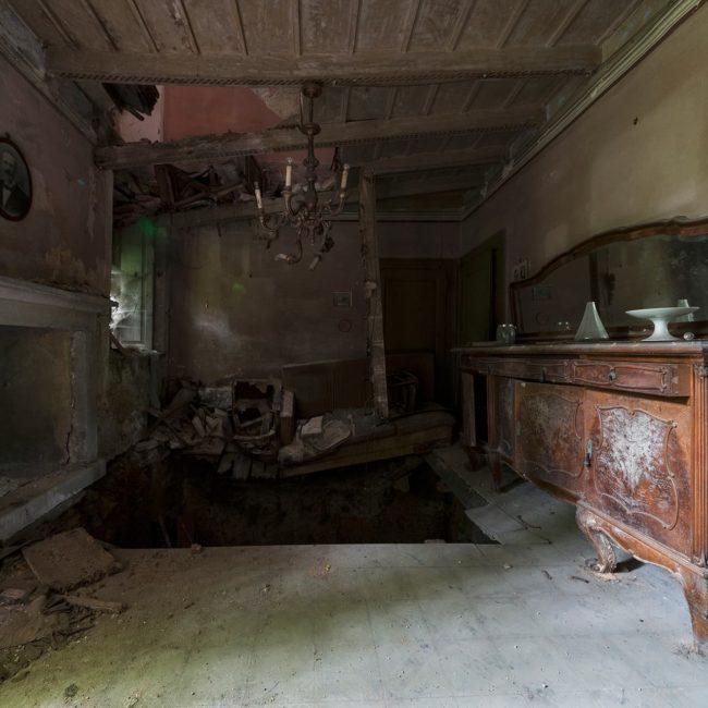 urbex exploration italie villa plancher