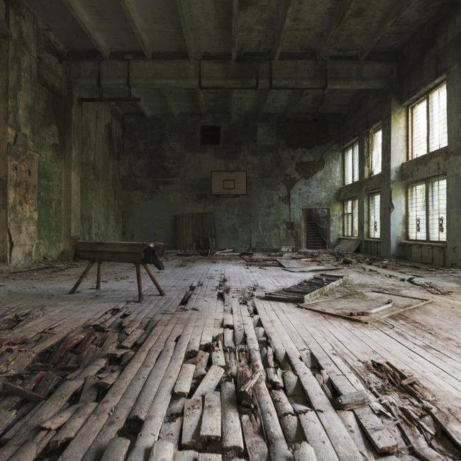 urbex exploration ukraine pripiat tchernobyl gymnase
