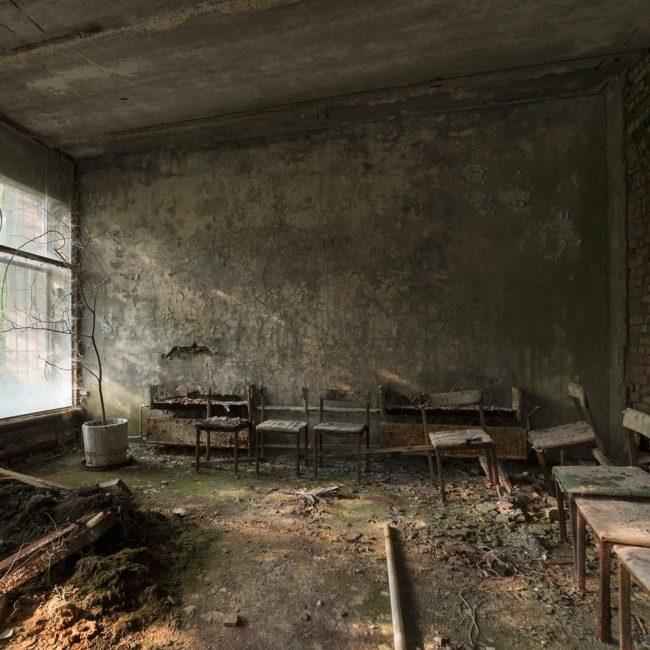 urbex exploration ukraine pripiat tchernobyl salle attente