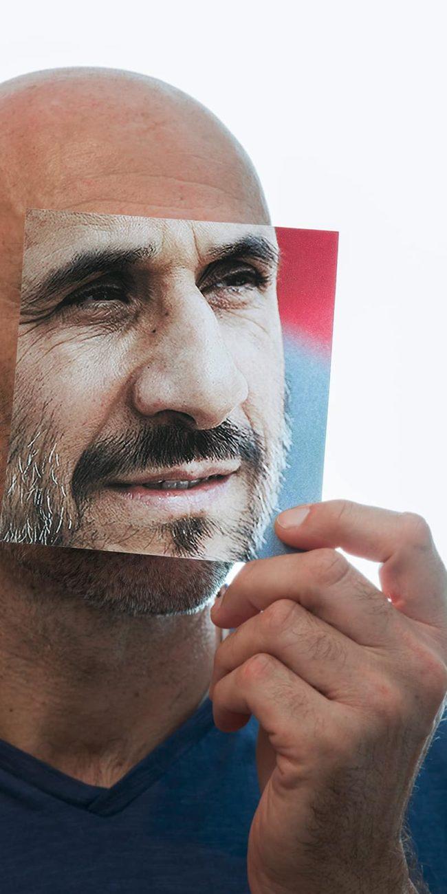 portrait decoupage ahmadinejad iran